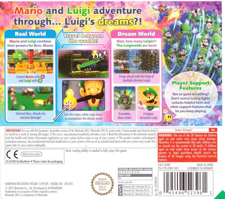 Mario & Luigi - Dream Team Bros. 3DS backHQ (AYMP)