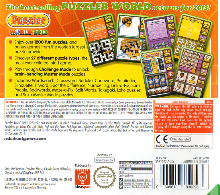 Puzzler World 2013 3DS backHQ (AZLP)