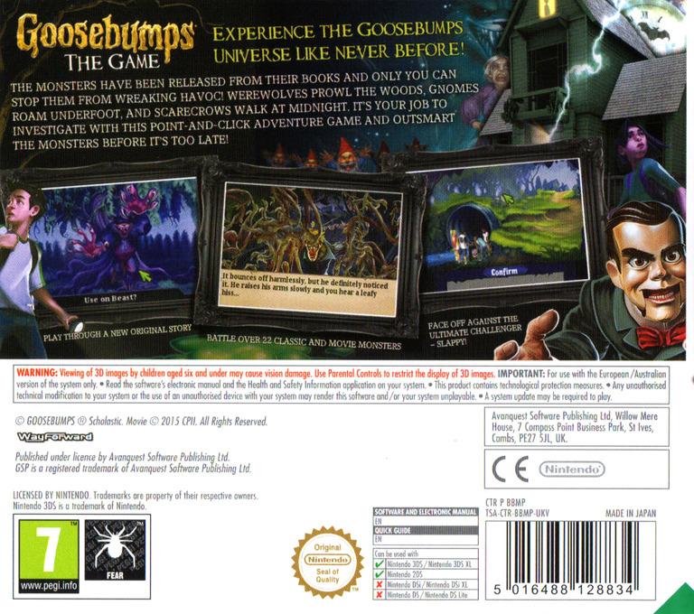 Goosebumps - The Game 3DS backHQ (BBMP)