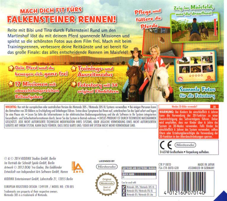 Bibi & Tina - Das Spiel zum Kinofilm 3DS backHQ (BBTD)