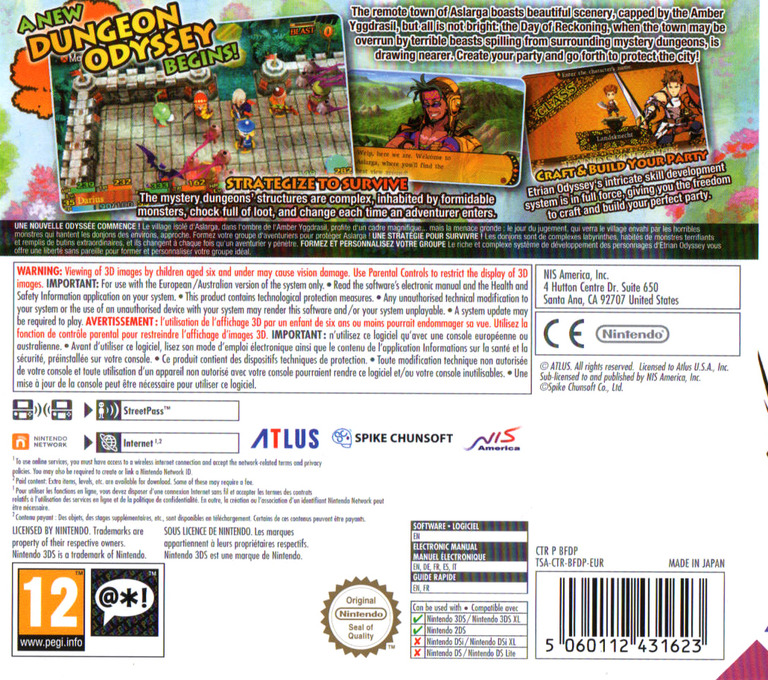 Etrian Mystery Dungeon 3DS backHQ (BFDP)