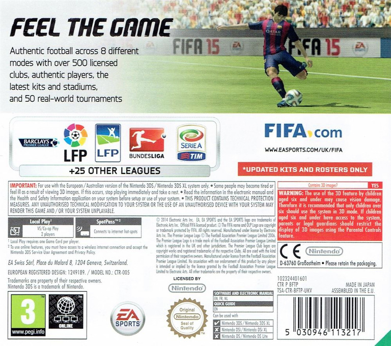 FIFA 15 - Legacy Edition 3DS backHQ (BFTP)