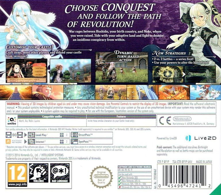Fire Emblem Fates - Conquest 3DS backHQ (BFYP)