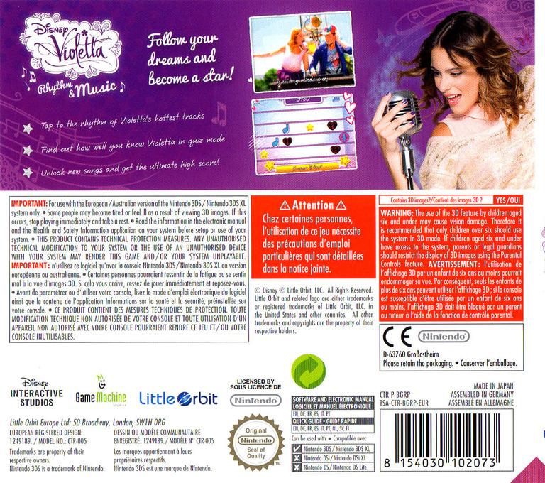 Disney Violetta - Rhythm & Music 3DS backHQ (BGRP)