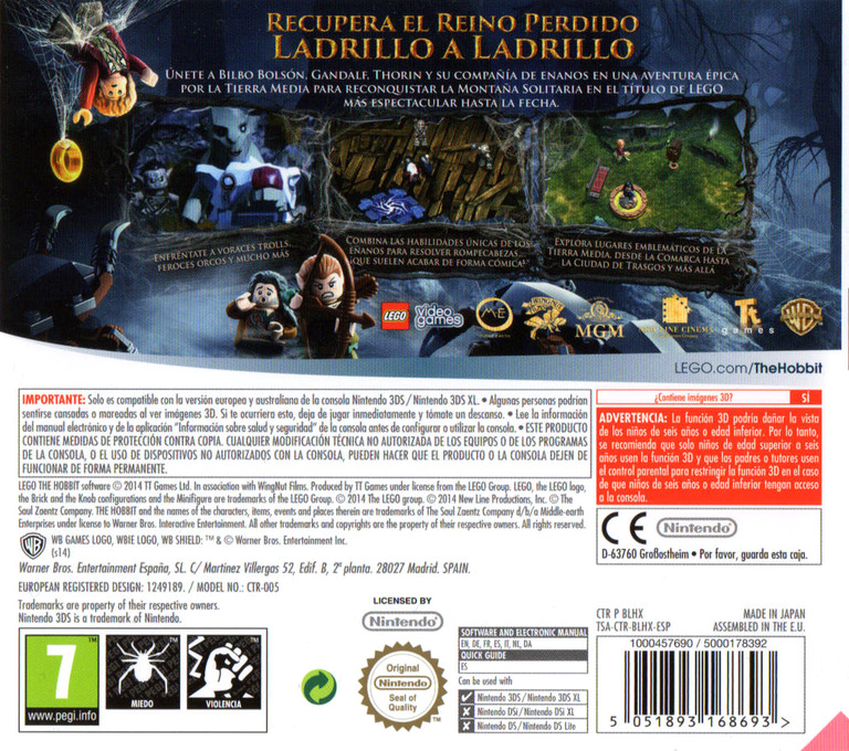 LEGO The Hobbit 3DS backHQ (BLHX)