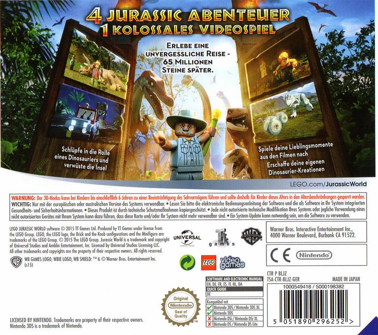 LEGO Jurassic World 3DS backHQ (BLJZ)