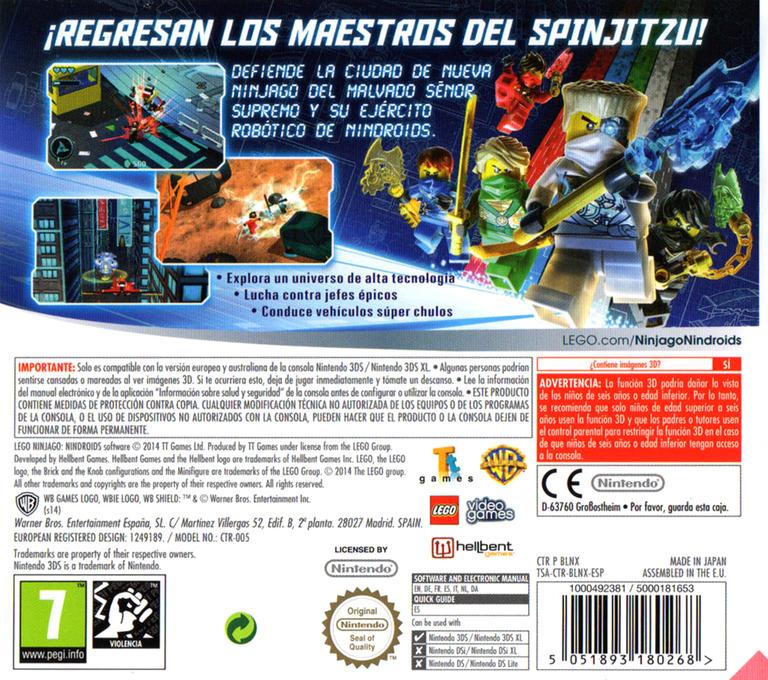 LEGO Ninjago - Nindroids 3DS backHQ (BLNX)