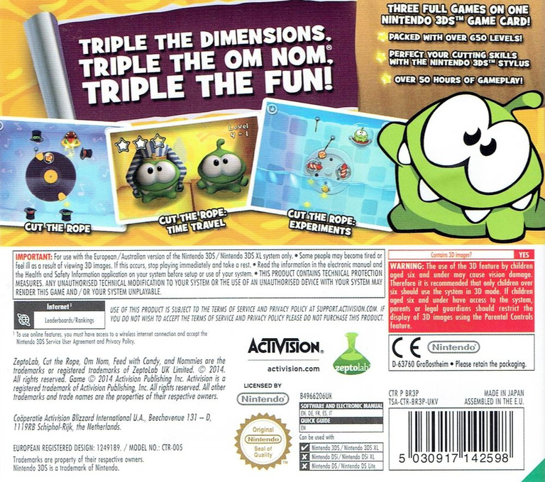 Cut the Rope - Triple Treat 3DS backHQ (BR3P)