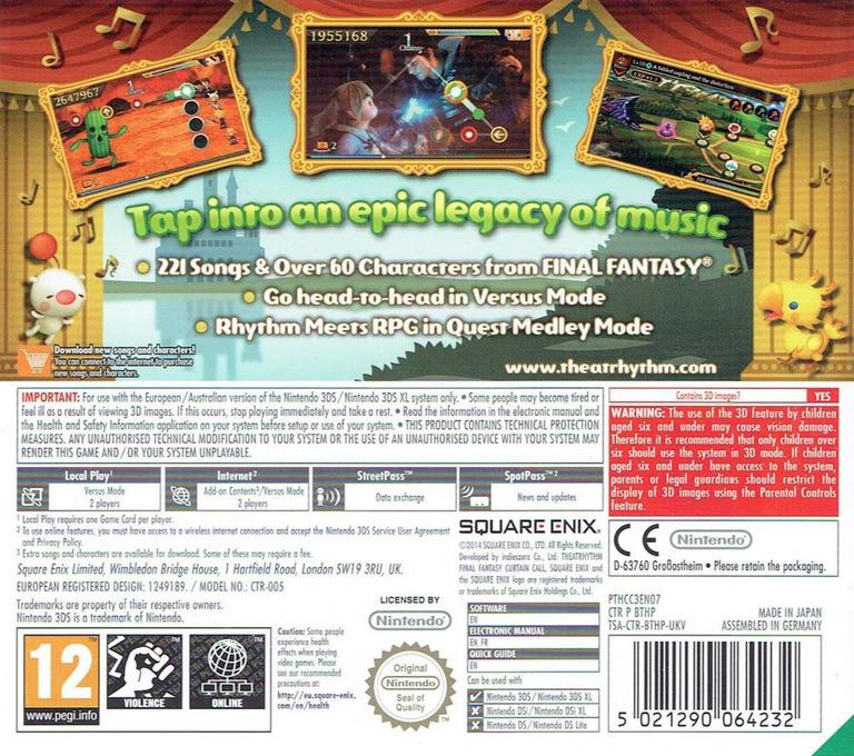 Theatrhythm Final Fantasy - Curtain Call 3DS backHQ (BTHP)