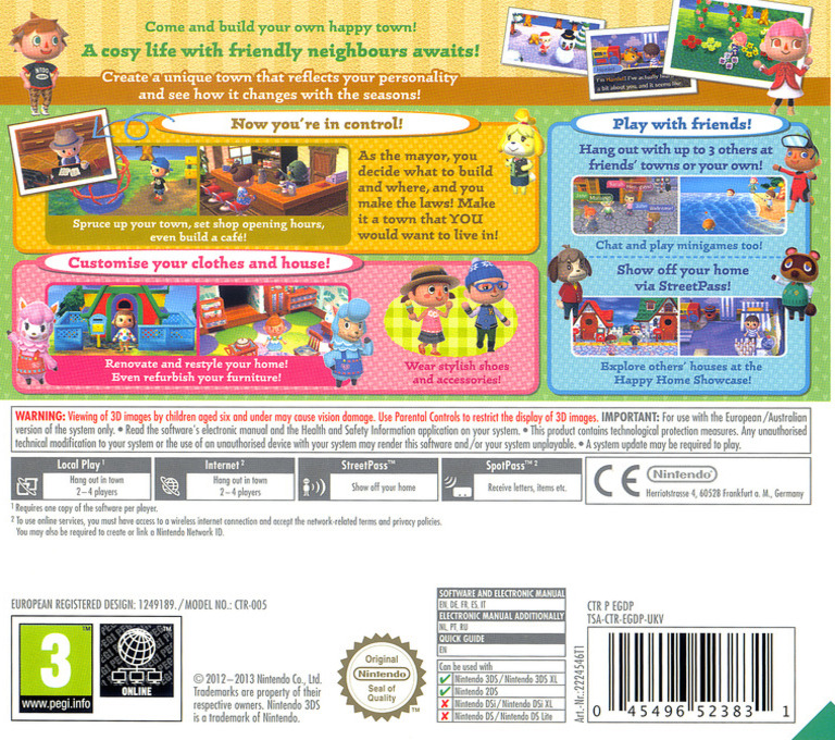 Animal Crossing - New Leaf 3DS backHQ (EGDP)
