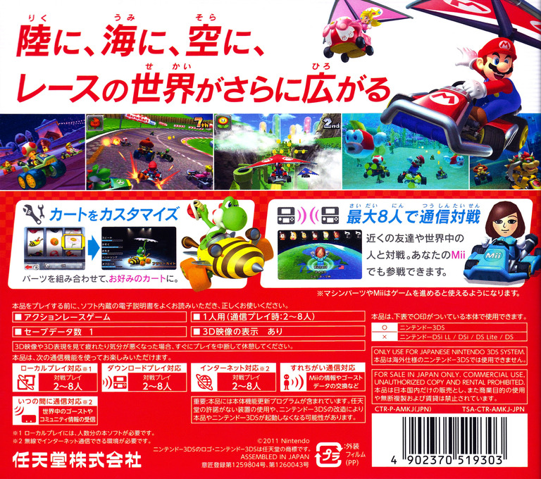 マリオカート7 3DS backHQ (AMKJ)