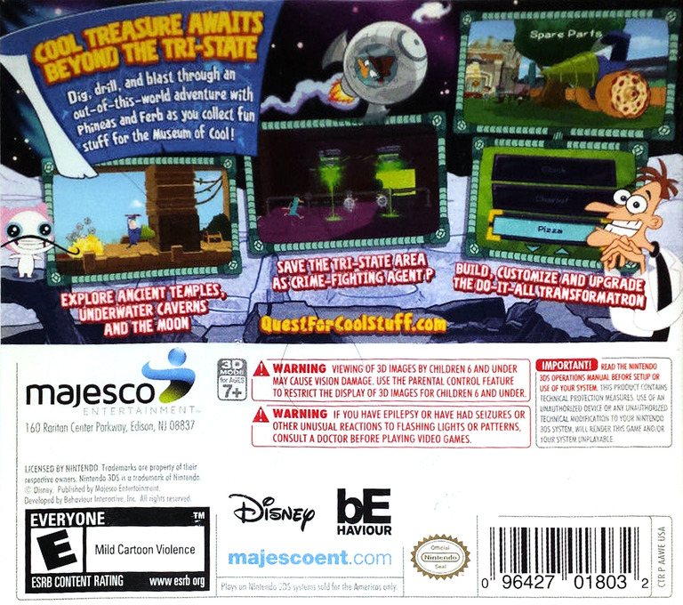Phineas and Ferb - Quest for Cool Stuff 3DS backHQ (AAWE)