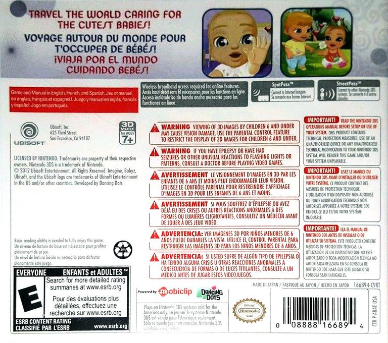 Imagine Babyz 3DS backHQ (ABAE)