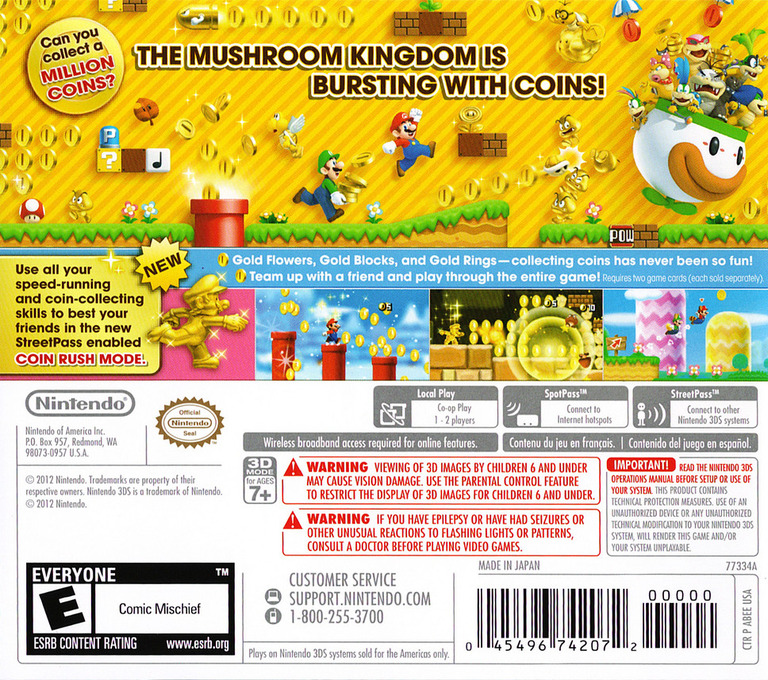 New Super Mario Bros. 2 3DS backHQ (ABEE)