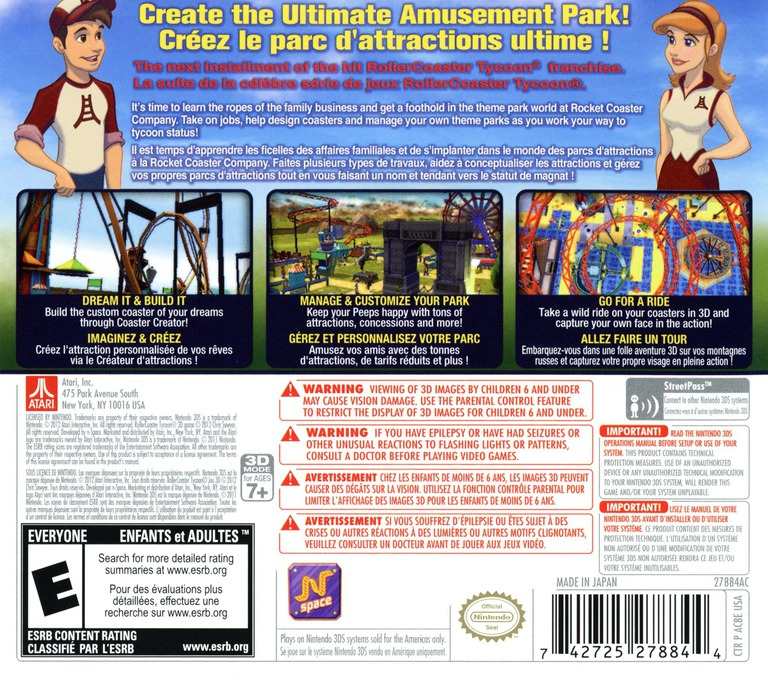 RollerCoaster Tycoon 3D 3DS backHQ (AC8E)