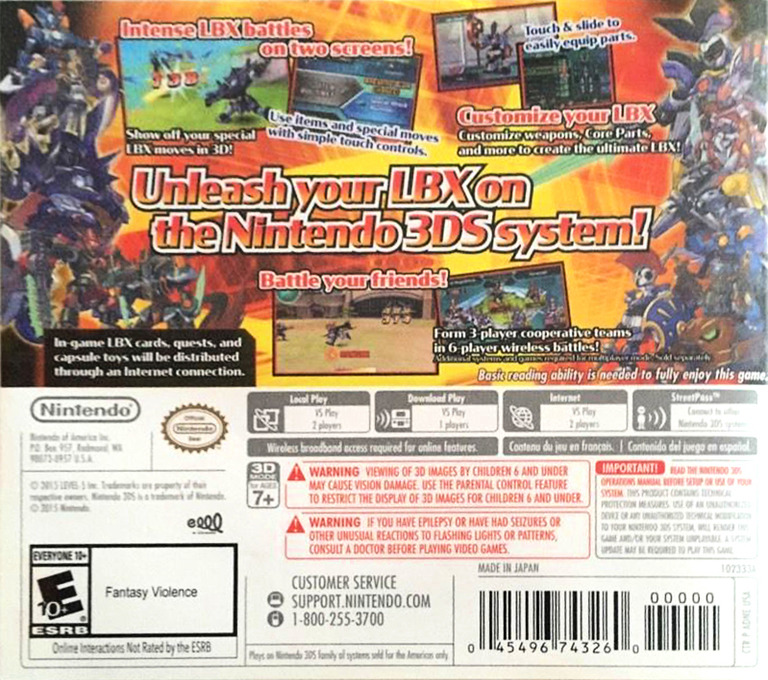 LBX - Little Battlers eXperience 3DS backHQ (ADNE)