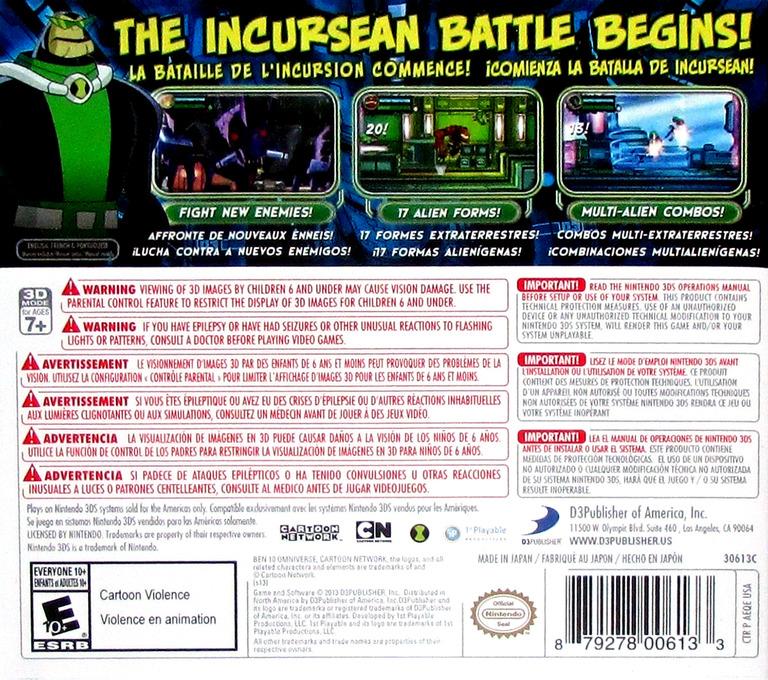 Ben 10 - Omniverse 2 3DS backHQ (AEQE)