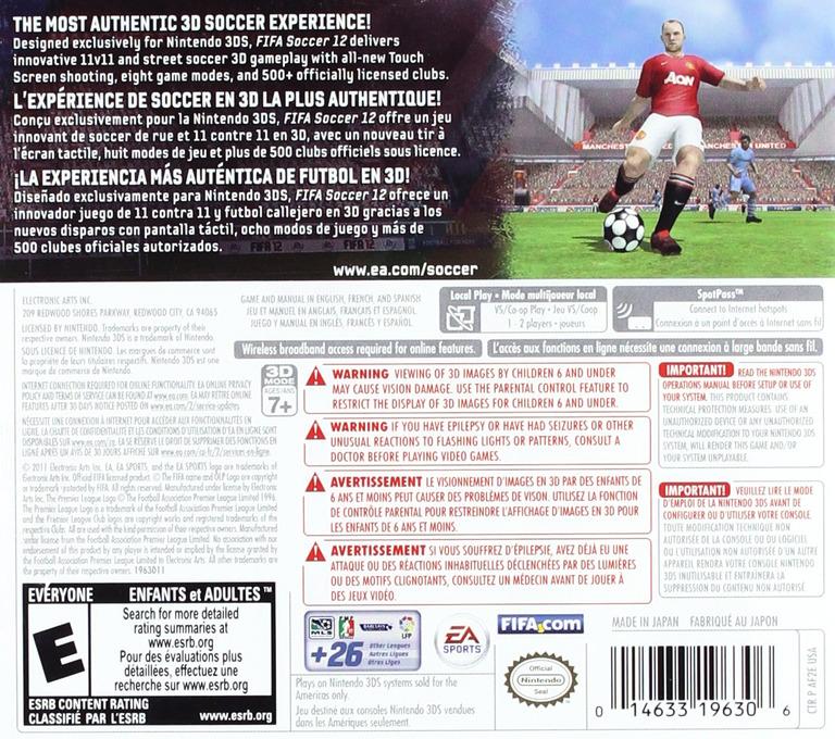 FIFA Soccer 12 3DS backHQ (AF2E)