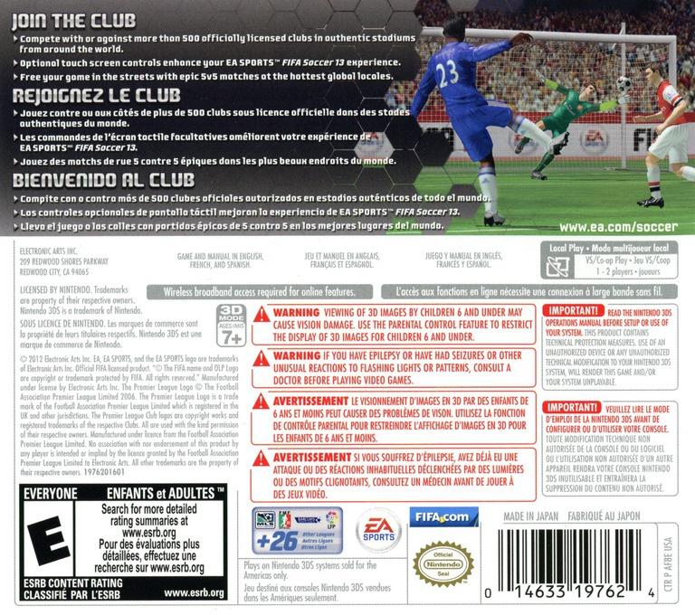 FIFA Soccer 13 3DS backHQ (AF8E)