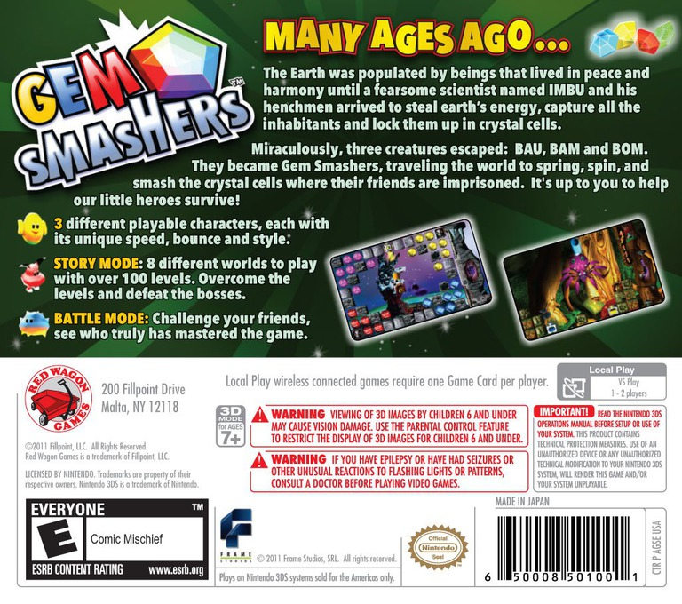 Gem Smashers 3DS backHQ (AGSE)