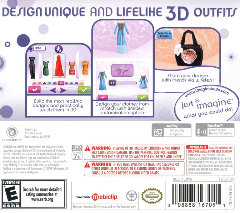 Imagine - Fashion Designer 3DS backHQ (AGUE)