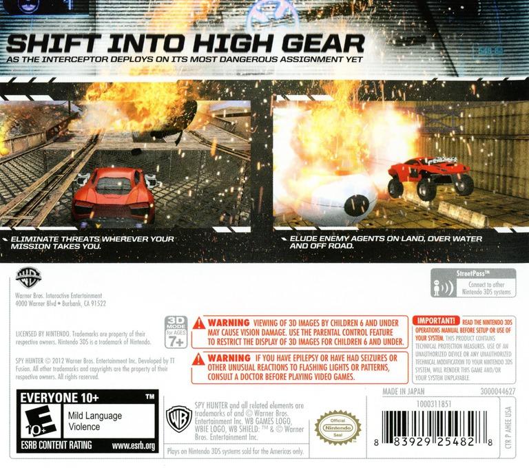 Spy Hunter 3DS backHQ (AHEE)