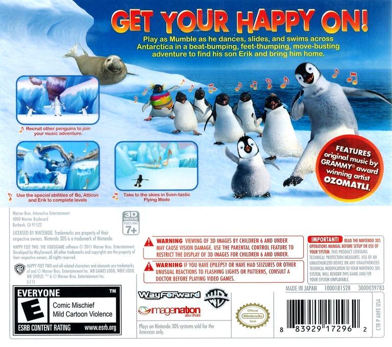 Happy Feet Two 3DS backHQ (AHFE)