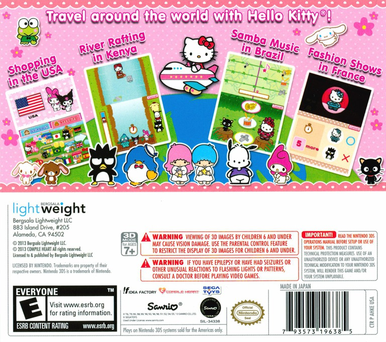 Travel Adventures with Hello Kitty 3DS backHQ (AHKE)