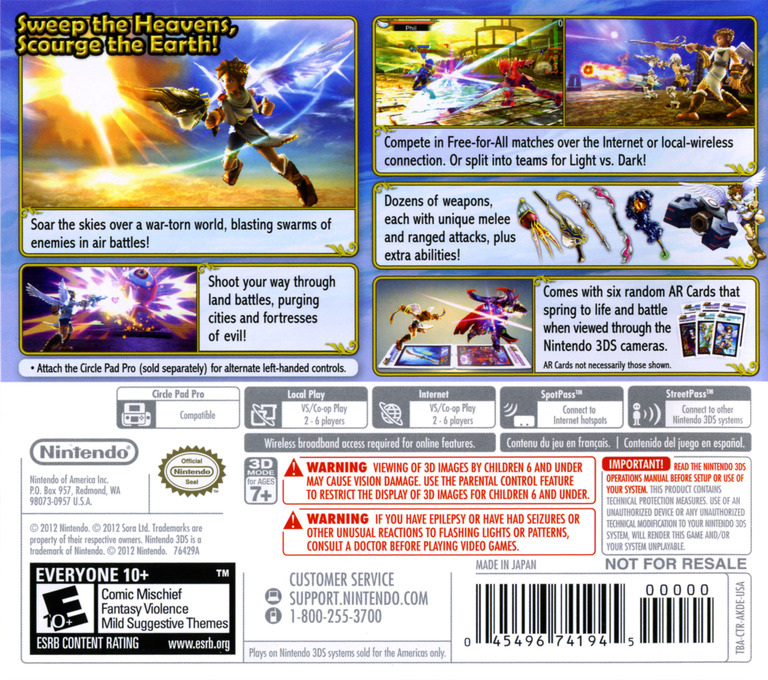 Kid Icarus - Uprising 3DS backHQ (AKDE)