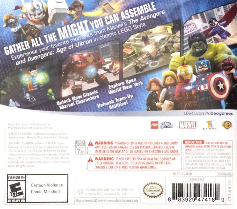 LEGO Marvel's Avengers 3DS backHQ (ALEE)
