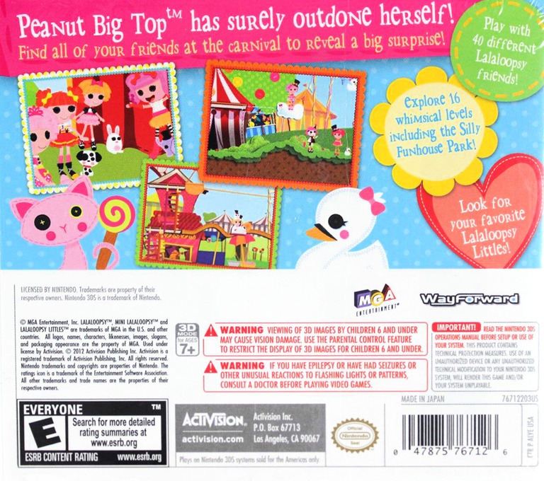 Lalaloopsy - Carnival of Friends 3DS backHQ (ALYE)