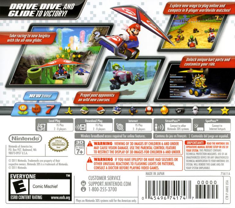 Mario Kart 7 3DS backHQ (AMKE)