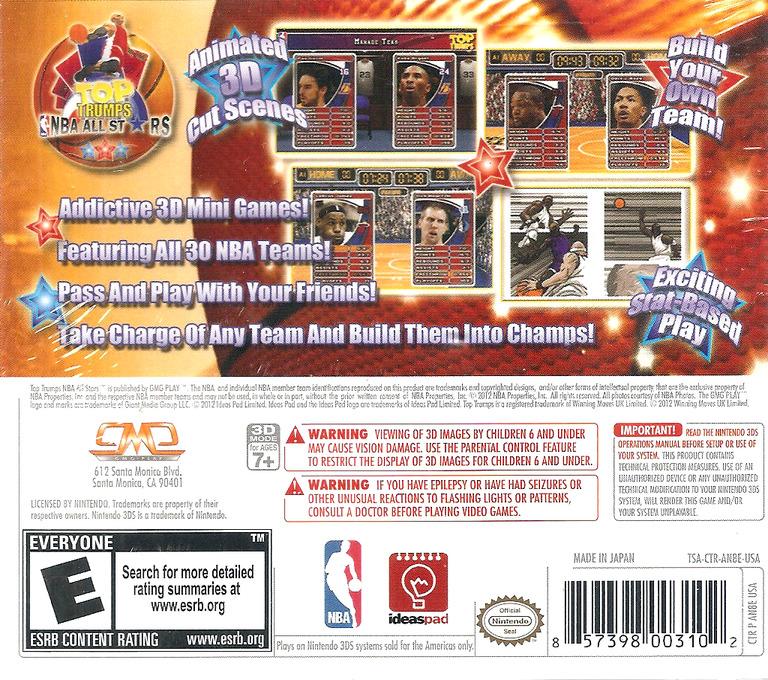 Top Trumps - NBA All Stars 3DS backHQ (AN8E)