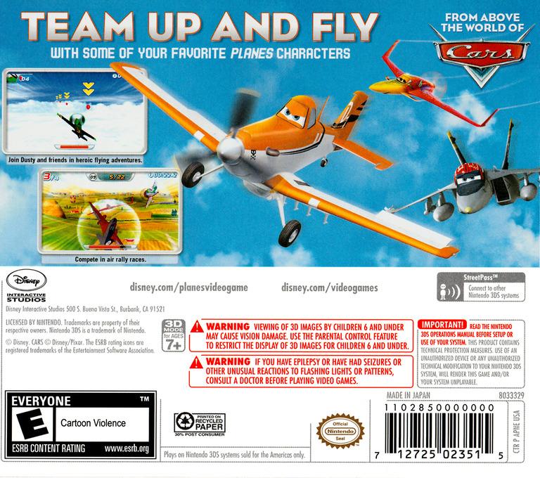 Disney Planes 3DS backHQ (APNE)