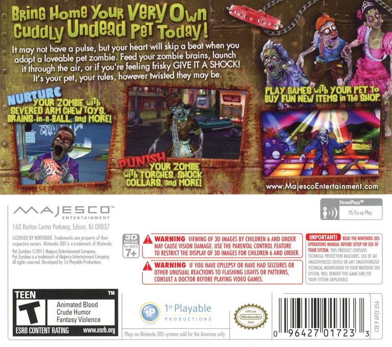 Pet Zombies 3DS backHQ (APZE)