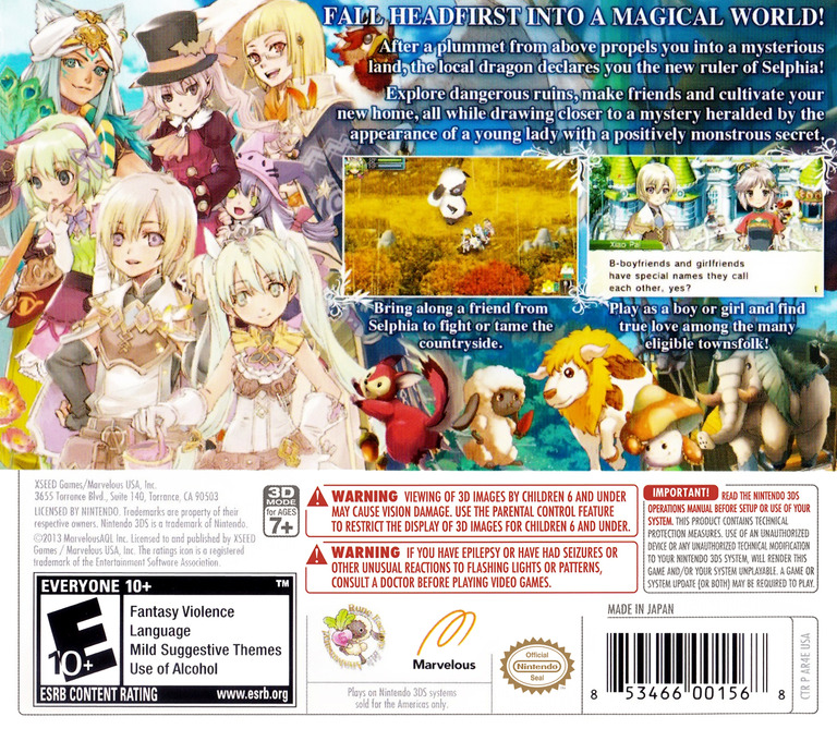 Rune Factory 4 3DS backHQ (AR4E)