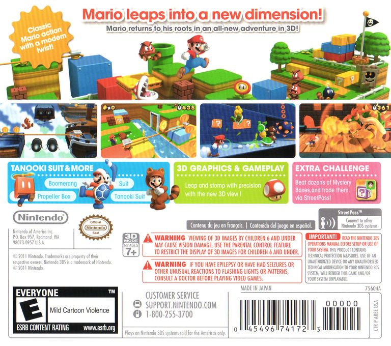 Super Mario 3D Land 3DS backHQ (AREE)