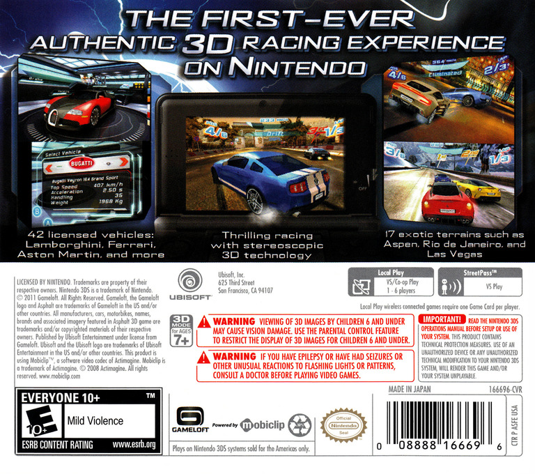 Asphalt 3D 3DS backHQ (ASFE)