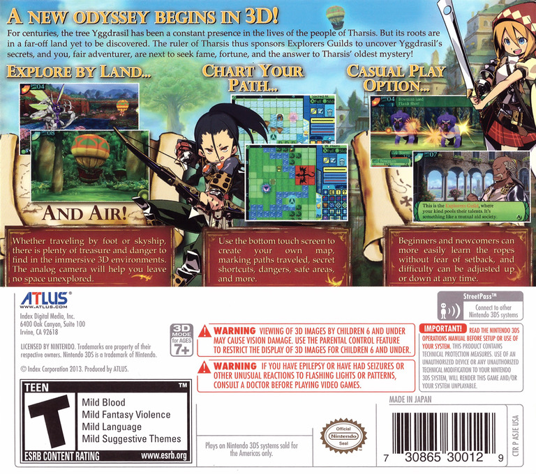 Etrian Odyssey IV - Legends of the Titan 3DS backHQ (ASJE)
