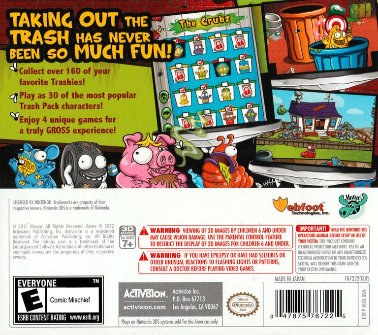 The Trash Pack 3DS backHQ (ATZE)