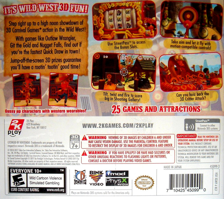 Carnival Games - Wild West 3D 3DS backHQ (AW2E)