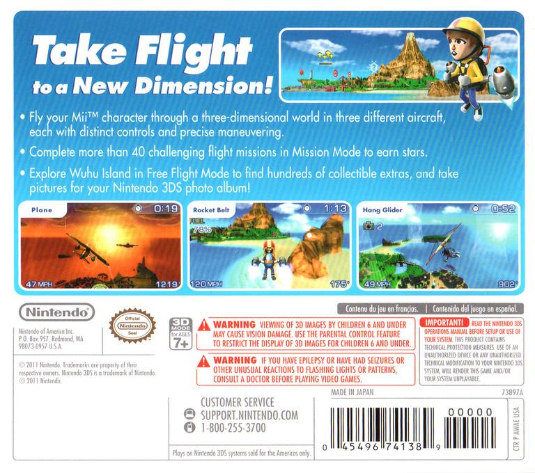 Pilotwings Resort 3DS backHQ (AWAE)