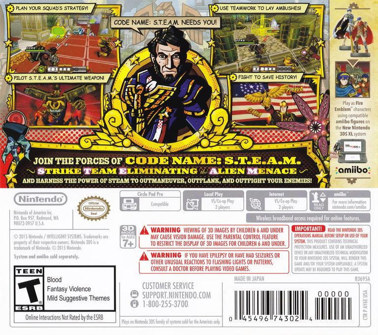 Code Name: S.T.E.A.M. 3DS backHQ (AY6E)