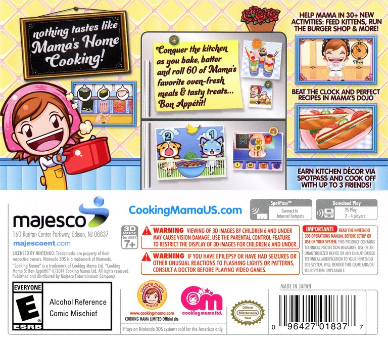 Cooking Mama 5 - Bon Appetit! 3DS backHQ (BC5E)