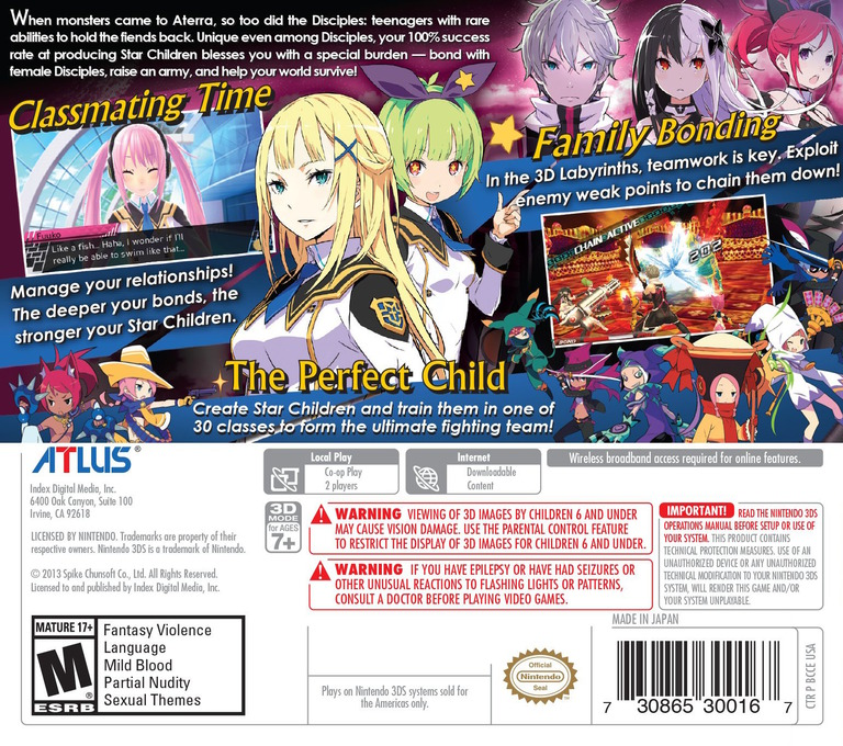 Conception II - Children of the Seven Stars 3DS backHQ (BCCE)