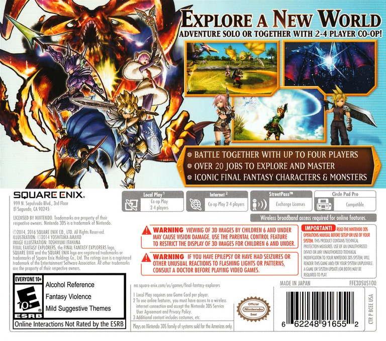Final Fantasy Explorers 3DS backHQ (BCEE)