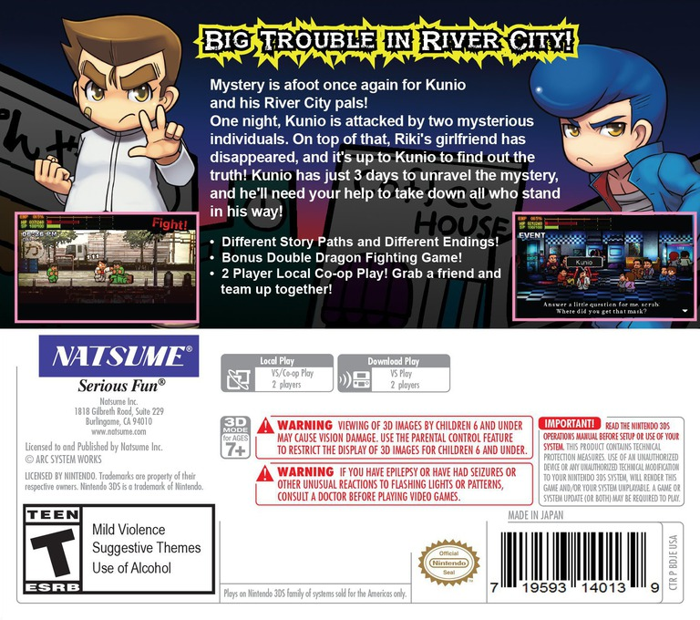 River City: Rival Showdown 3DS backHQ (BDJE)