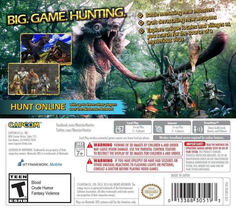 Monster Hunter 4 Ultimate 3DS backHQ (BFGE)