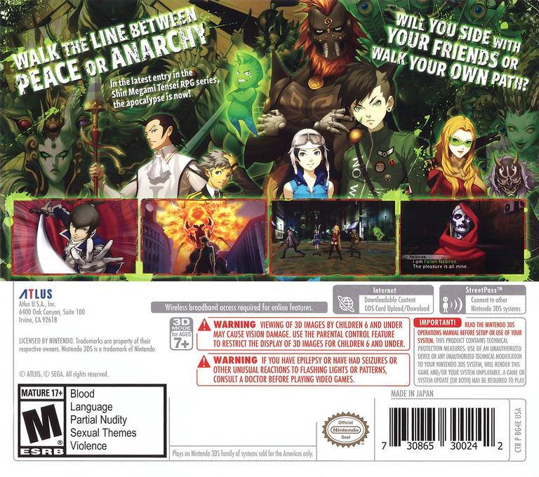 Shin Megami Tensei IV: Apocalypse 3DS backHQ (BG4E)