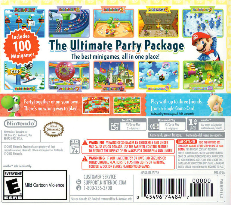 Mario Party: The Top 100 3DS backHQ (BHRE)